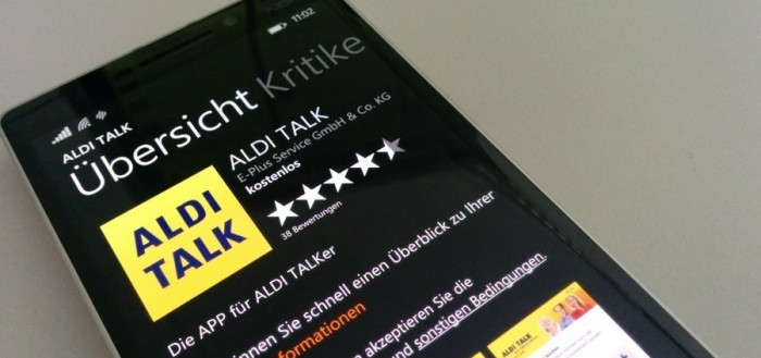 Aldi Talk App WIndows Phone Artikelbild0