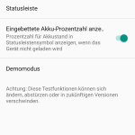 Android 6.0 Marshmallow System UI Tuner Menü